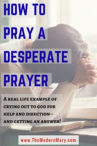 Ever feel lost and in need of a savior? Read a real life example of crying out to the Lord and actually getting a response!