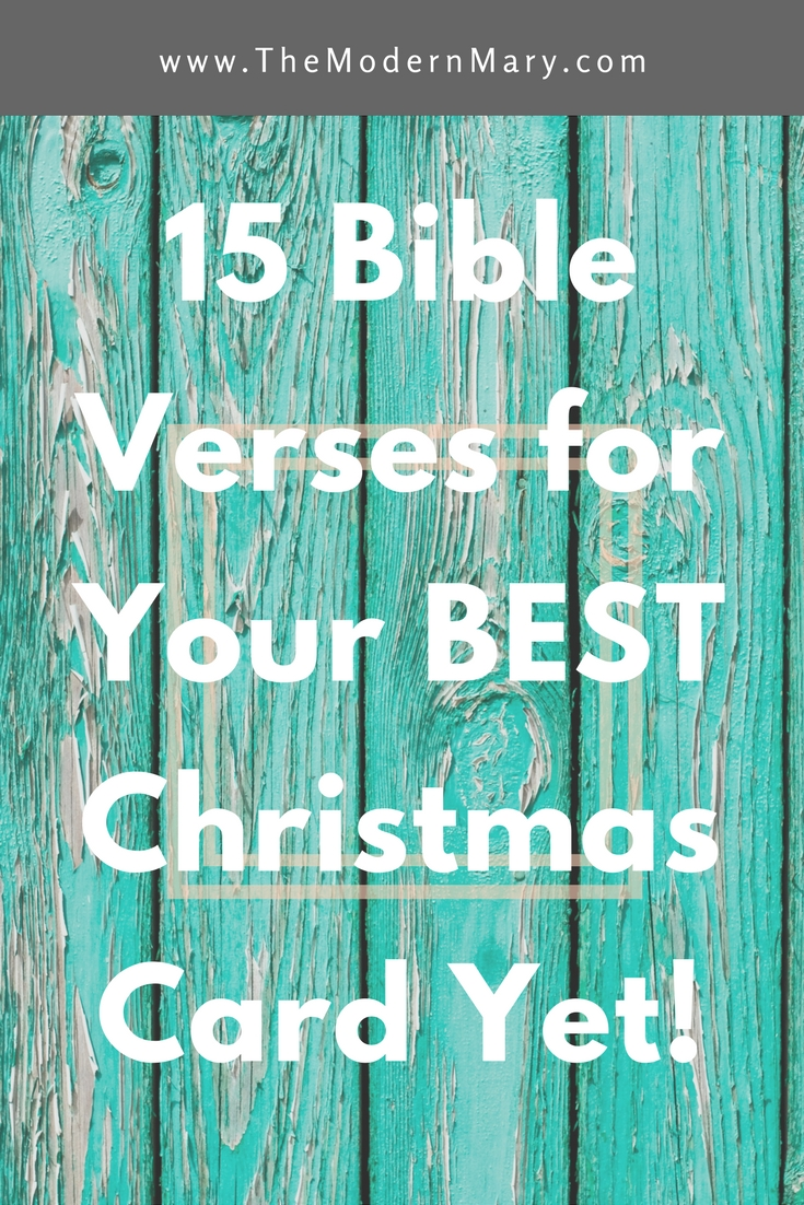 15 Verses for Your Best Christmas Card Yet