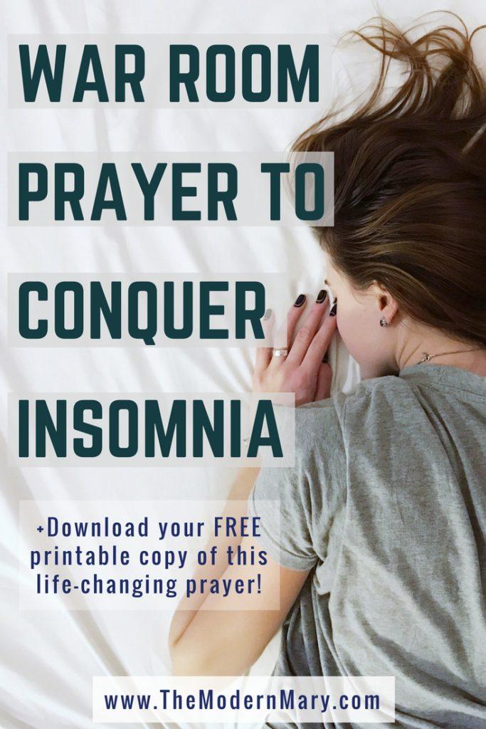 11 Verses to Help you Sleep. Powerful War Room Prayer #FreePintable #Insomnia #WarRoom